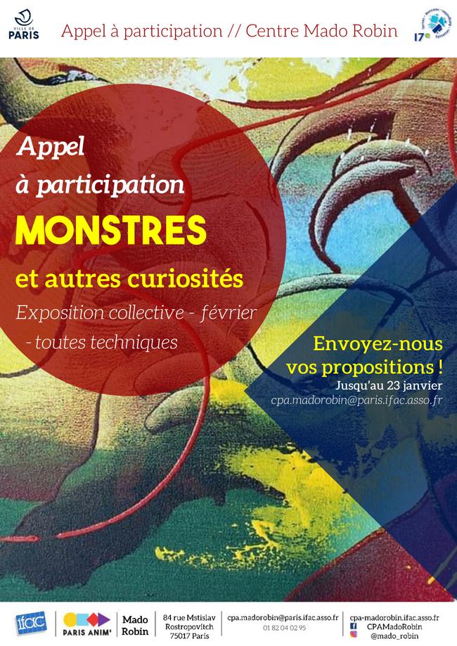 Appel à participation / Exposition collective de février : «Les Monstres»