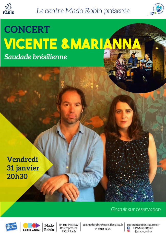 « Mado part en live » / Janvier : Vincente et Marianna