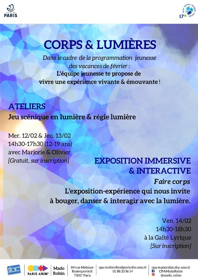 Focus sur la programmation «Corps et Lumières» des vacances