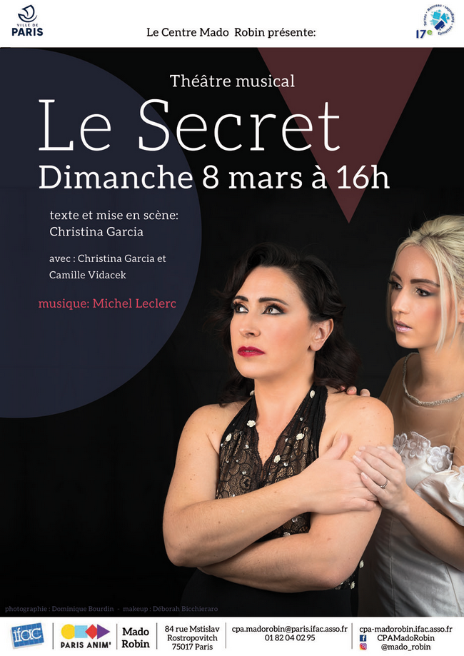 Théâtre musical : « Le Secret », de Christina Garcia