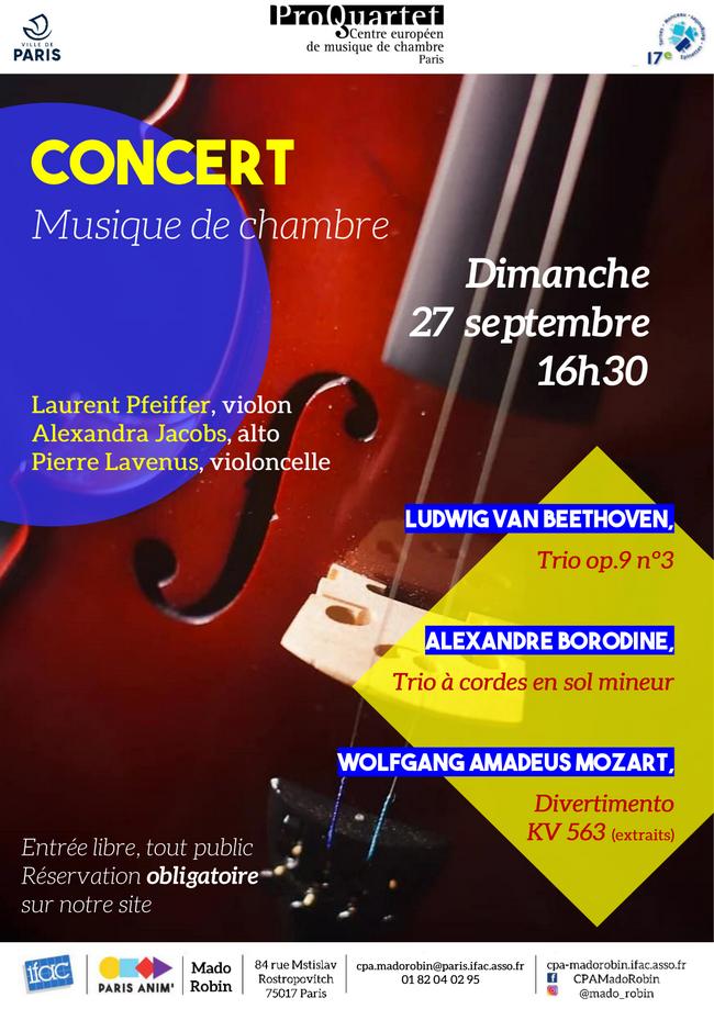 Concert de musique de chambre (réservation en ligne)