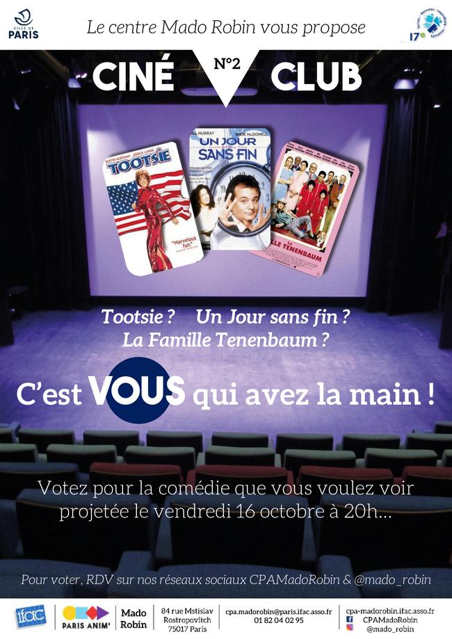 Ciné Club de Mado : choisissez votre comédie !