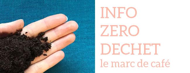 Info zéro déchet : Réutiliser le marc de café, par Mathilde