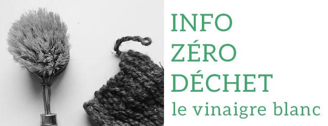 Info zéro déchet : Le vinaigre blanc, par Mathilde