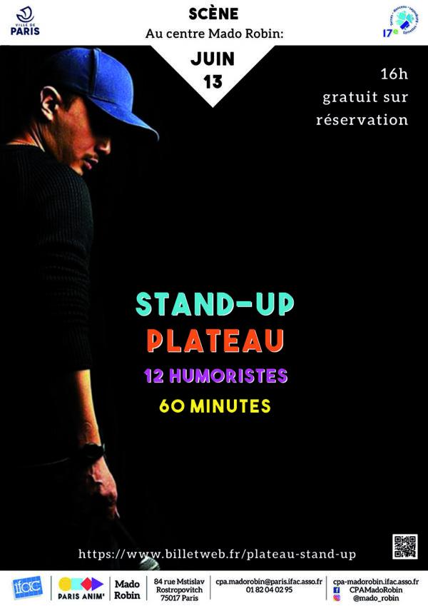 Stand up : Un plateau – 12 humoristes – 60 minutes